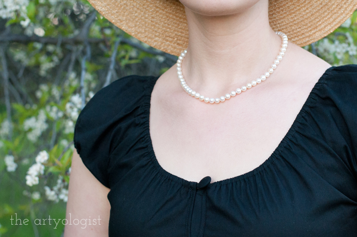 The Circle Skirt Strikes Again (With the Hell Bunny Melissa Top), the artyologist, pearls