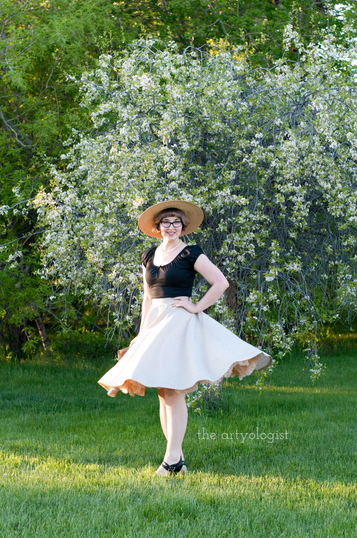 The Circle Skirt Strikes Again (With the Hell Bunny Melissa Top), the artyologist, spinning
