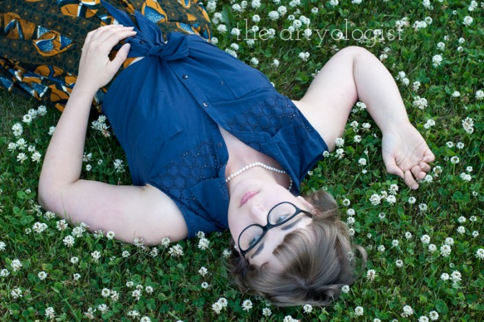 Amongst the Clover, lying in the clover, the artyologist