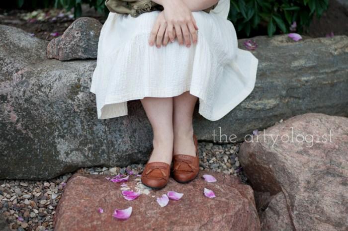 kilties shoes--sitting-on-rock, the artyologist