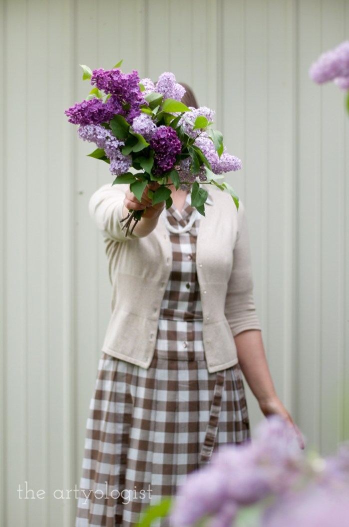 Lilacs, A Gingham Dress and The Second Post That Almost Wasn't, the artyologist
