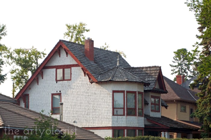 A Flying Trip to Calgary, the artyologist, old house in calgary