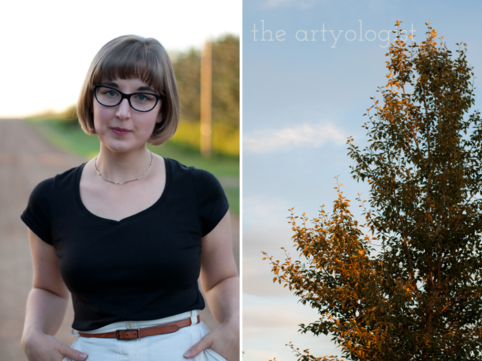 Crossing Over to the Solid Separates Side, the artyologist, portrait-and-tree-at-sunset