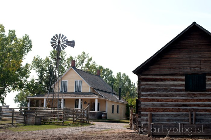 A Flying Trip to Calgary, the artyologist, ranch house, heritage park