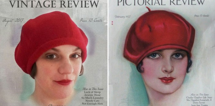 tanithrowan-red-beret, #myvintagecover 2017
