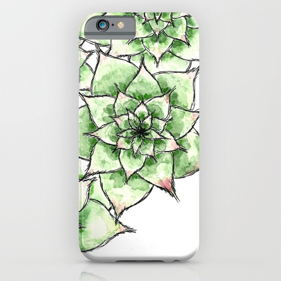 Hens and Chicks, Phone Case
