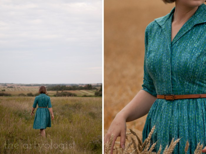 "How to Wear Those ""Problem Garments"", the artyologist, vintage shirtwaist dress, details"