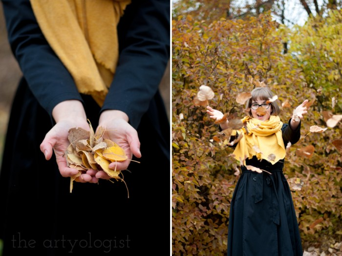 An Outfit For A Rather Windblown Autumn Day, the artyologist, throwing leaves