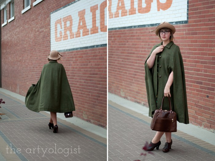 city slicker, the artyologist, vintage style cape