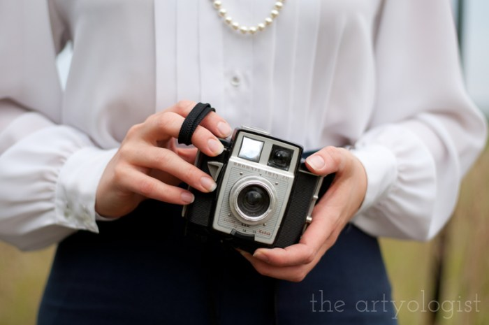 Wearing Vintage (Or Alternative Style) vs. a Costume, the artyologist, vintage camera