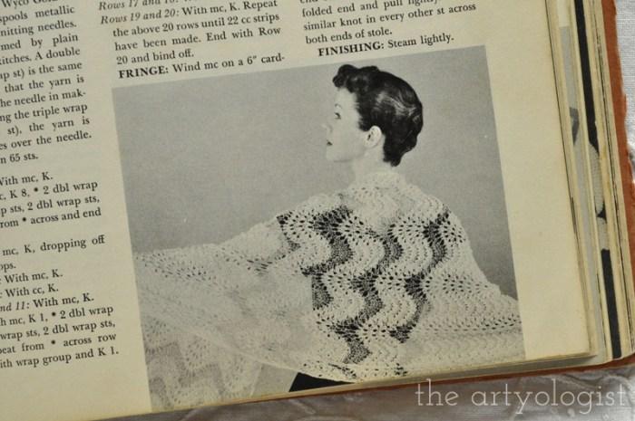 Vintage McCall's Treasury of Needlecraft, evening shawls, The Artyologist