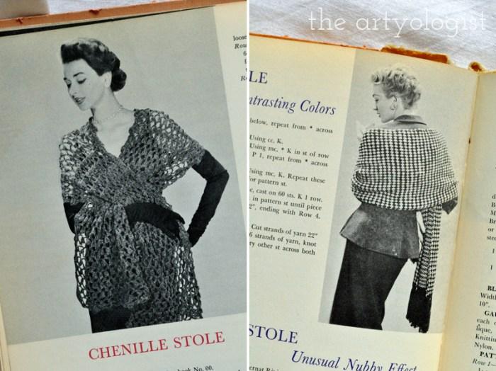 Vintage McCall's Treasury of Needlecraft, new years evening shawls, The Artyologist