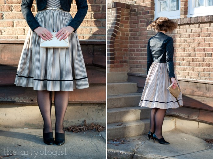 vintage holiday outfit, vogue 8789, the artyologist
