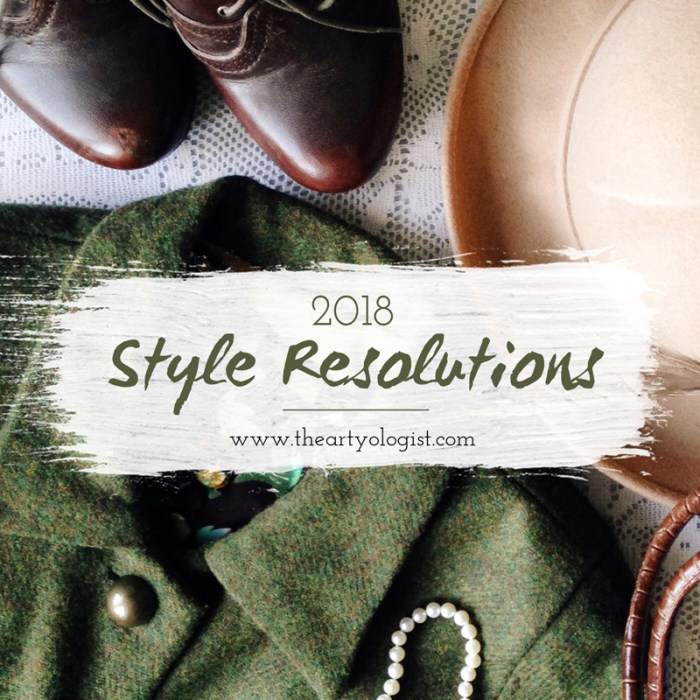 2018 style resolutions, the artyologist