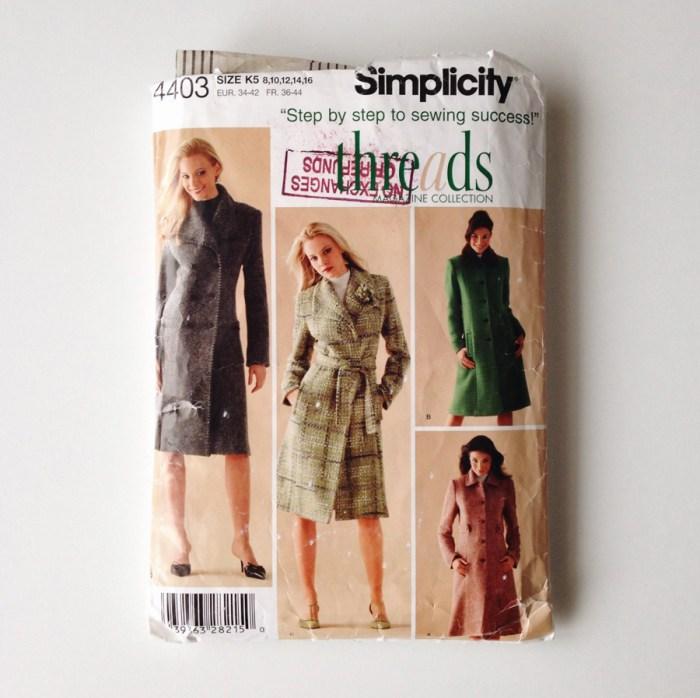 2018 Make Nine, Simplicity 4403, the artyologist