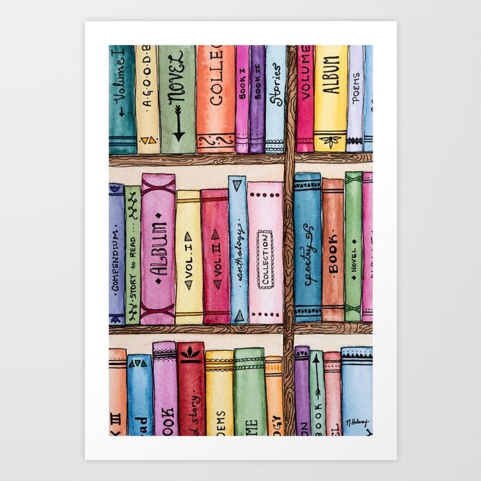 The Bookshelf, Giclee Print
