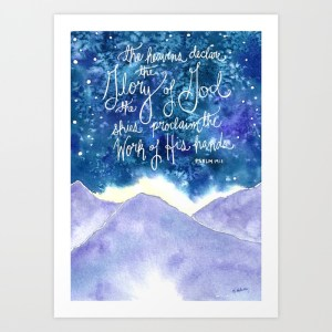 The Heavens Declare, Giclee Print