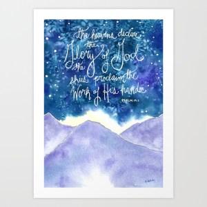 The Heavens Declare, Giclee Print