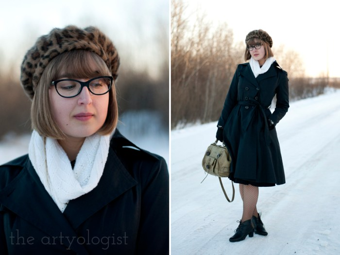 Cashmere is a Sweater, the artyologist, beret and coat