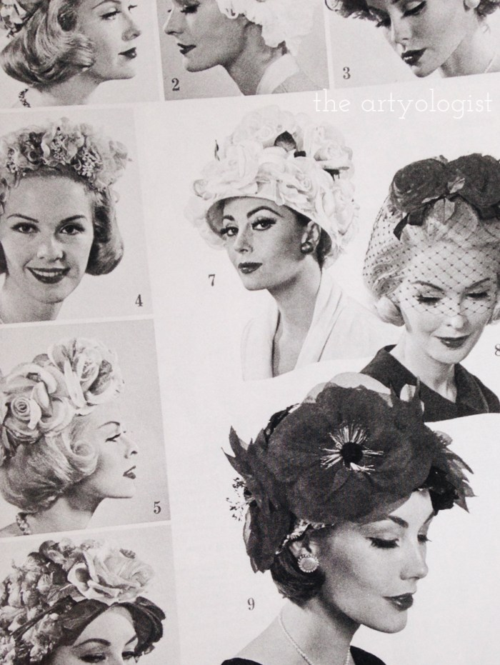 vintage 1960's hats, style resolutions, the artyologist