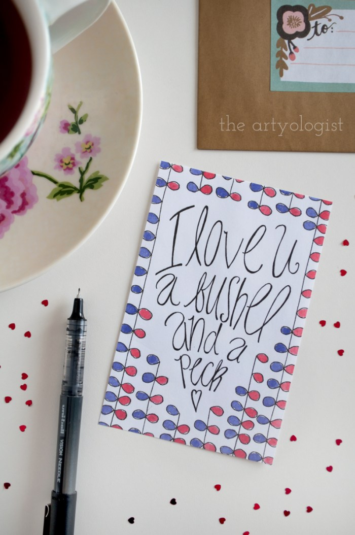 Valentine's Day is Coming (And a Free Printable), the artyologist