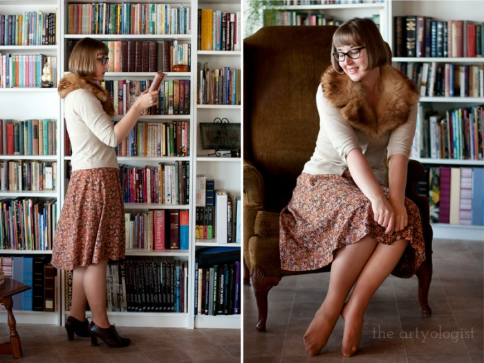 Sustainable Shopping: A Swedish Stockings Review, the artyologist, vintage style