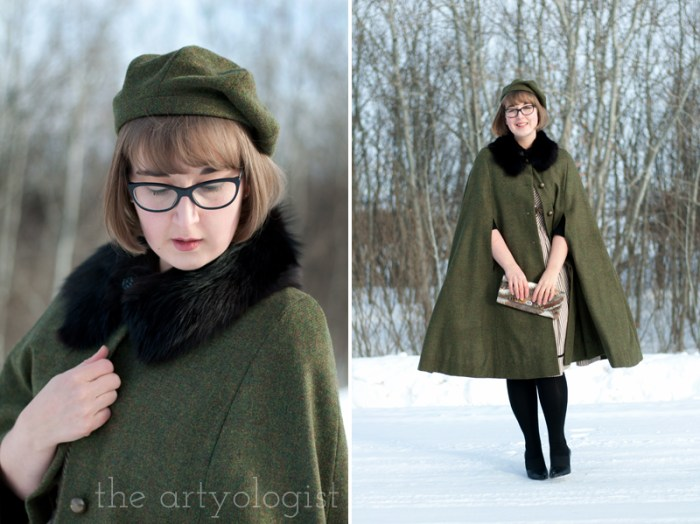 grevillea beret and cape set, the artyologist
