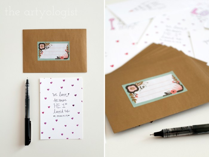 valentines cards, the artyologist