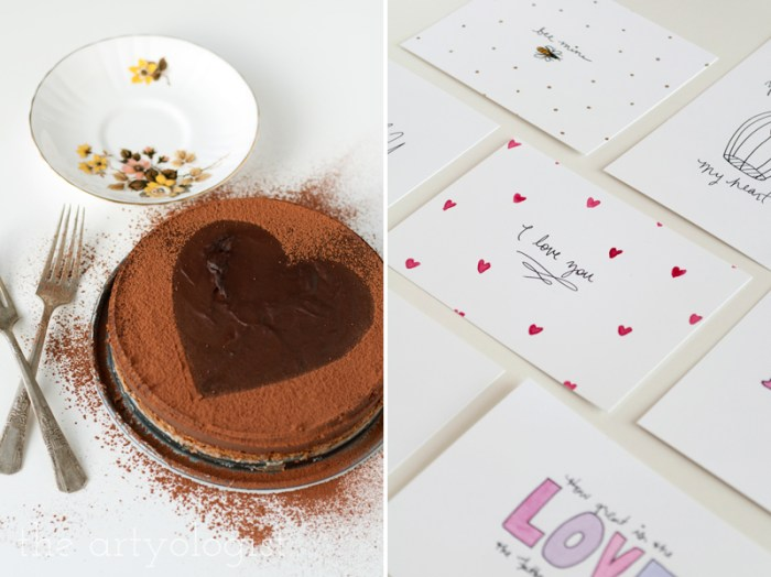 valentines cards-and-cake, the artyologist