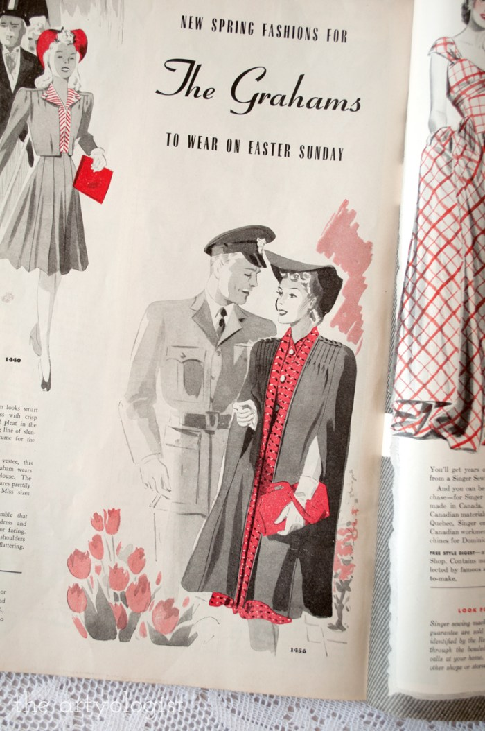 cape, canadian home journal 1941, butterick 1456, the artyologist