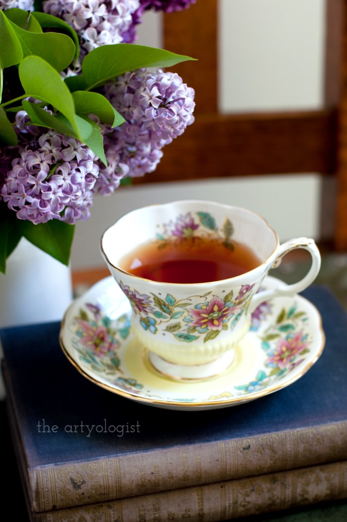 Lilacs to Welcome the First Day of Spring, tea and lilacs, the artyologist