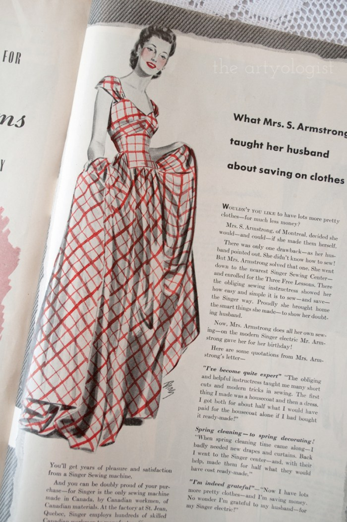 what-mrs-graham-taught, canadian home journal 1941, the artyologist
