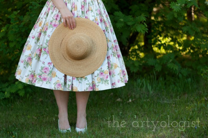 hat-and-shoes, 1950's style, the artyologist