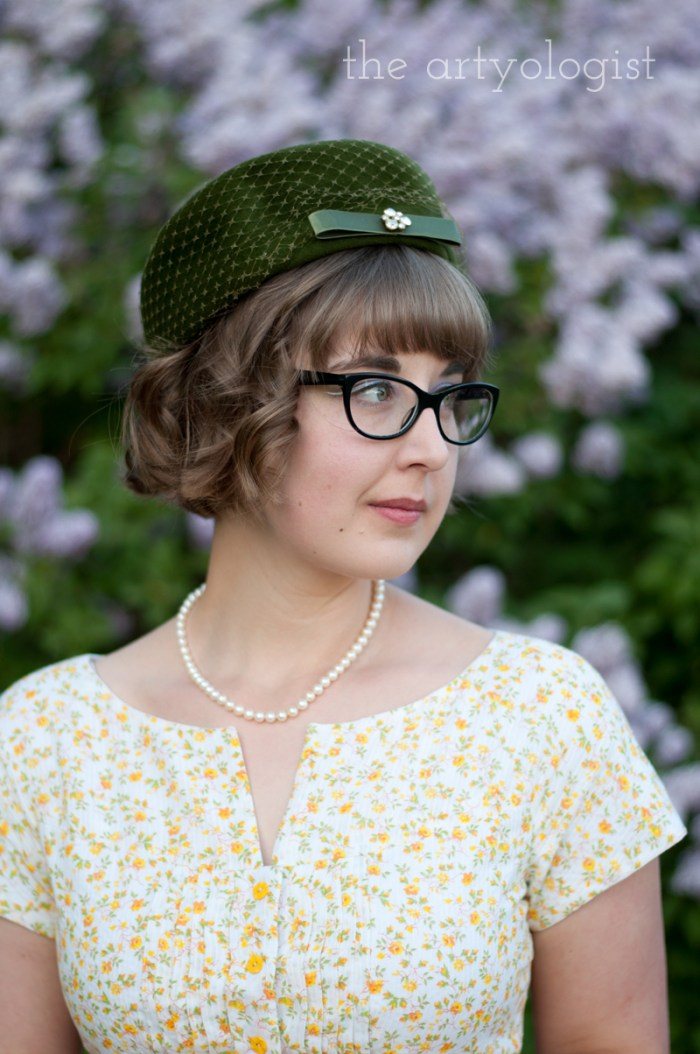 lilac blooms and a vintage velvet hat, the artyologist