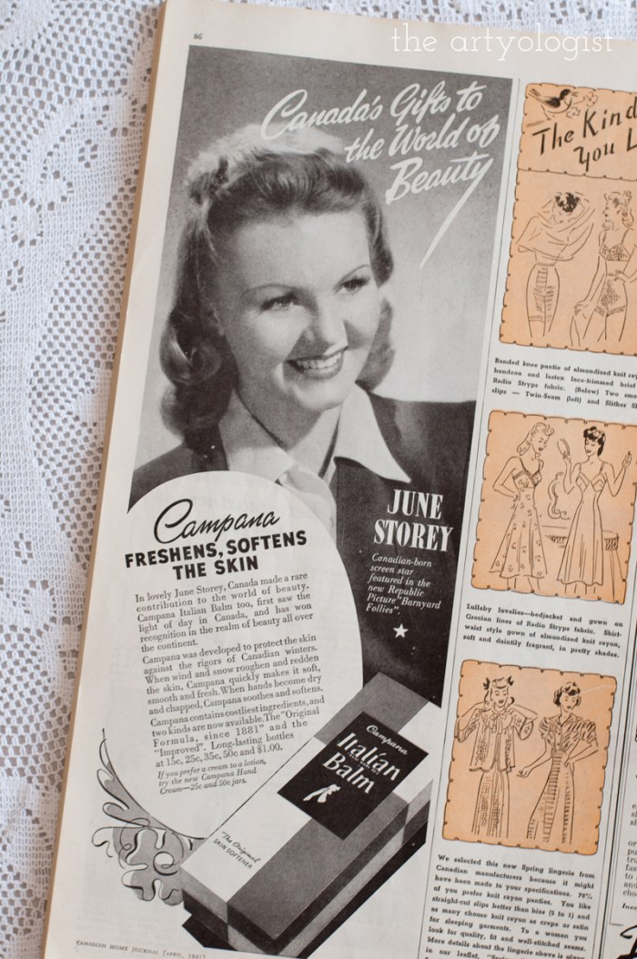 Vintage 1941 Campana ad