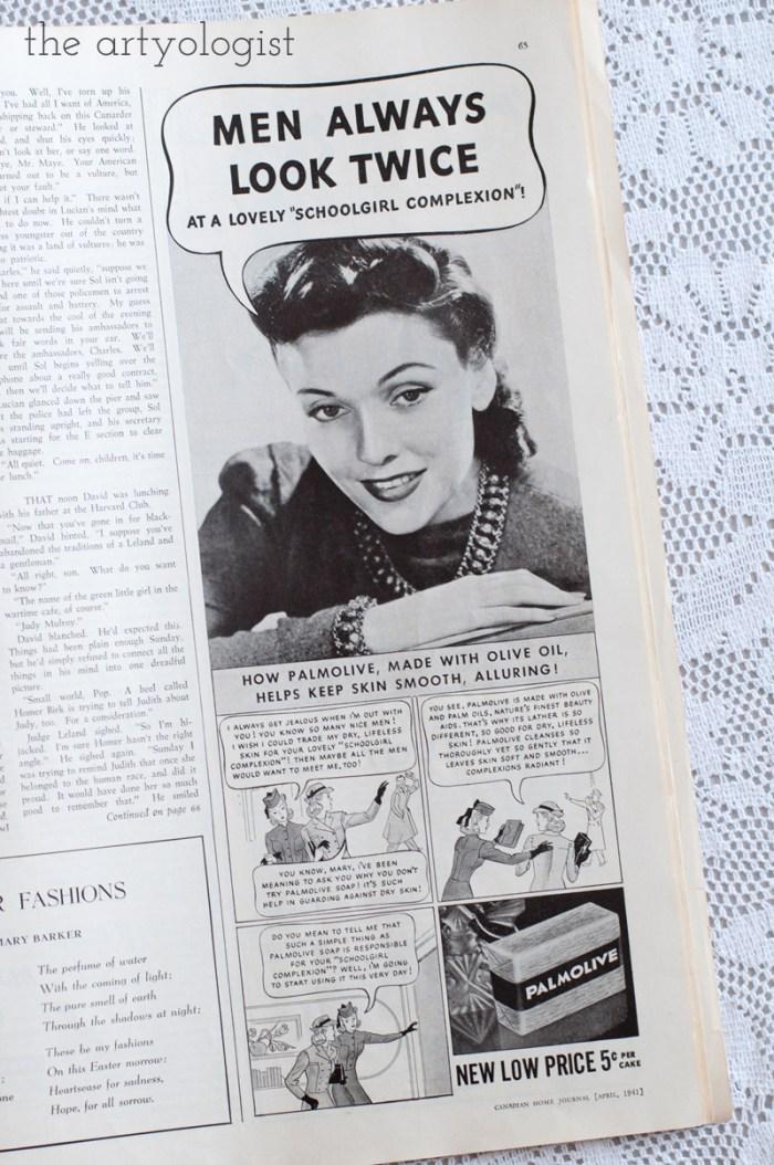 Vintage 1941 Palmolive ad