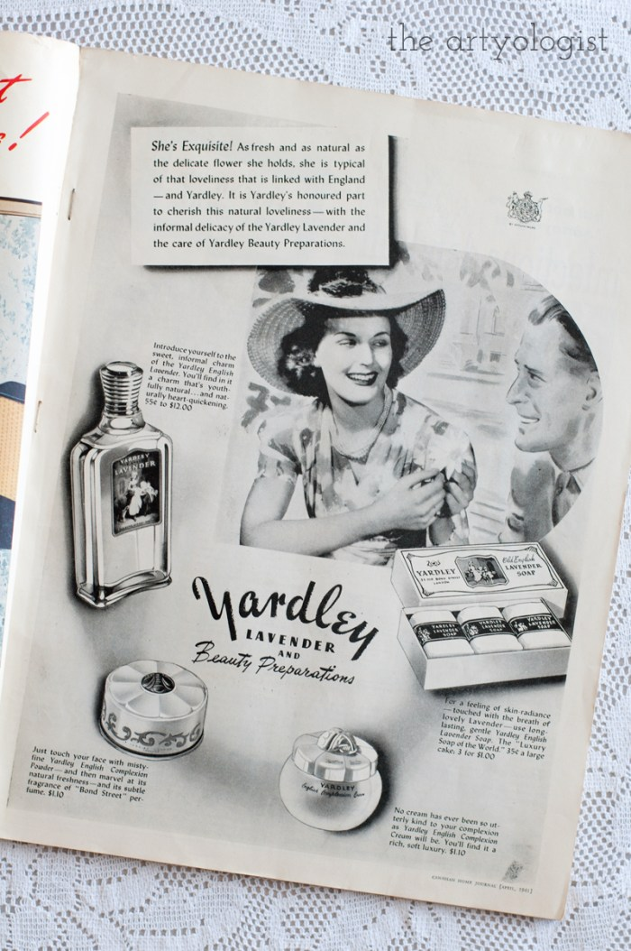 Vintage 1941 Yardley makeup ad