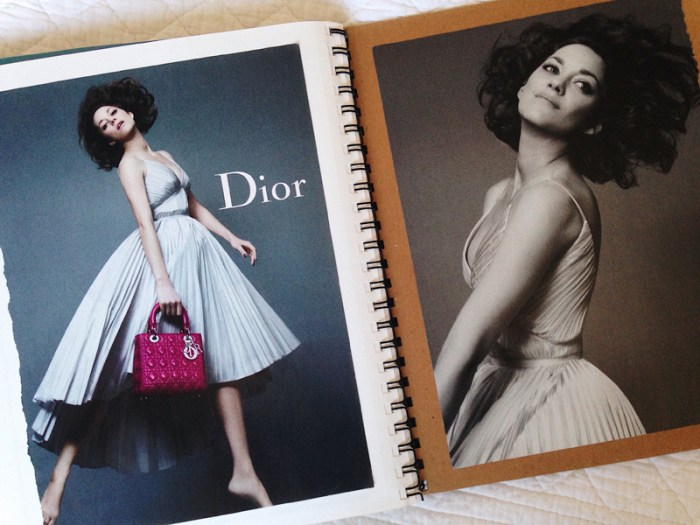 fashion scrapbook dior, the artyologist