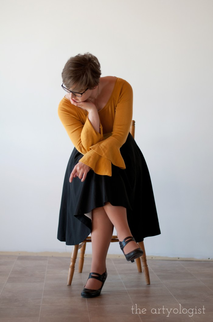 mustard sweater 2