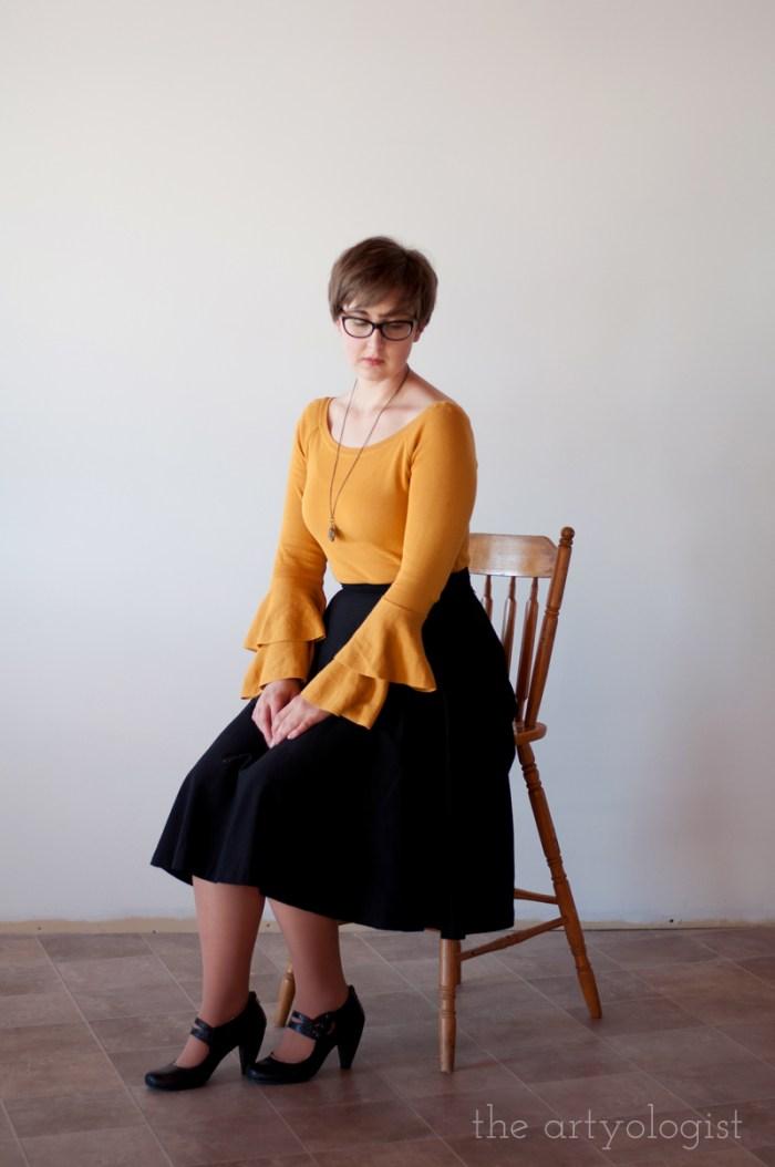 mustard sweater feature