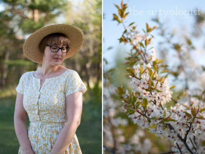 straw-boater and vogue 1044 summer dress