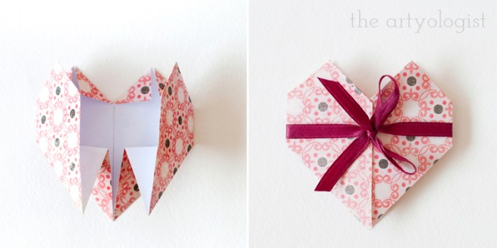 folded heart valentine card step 15