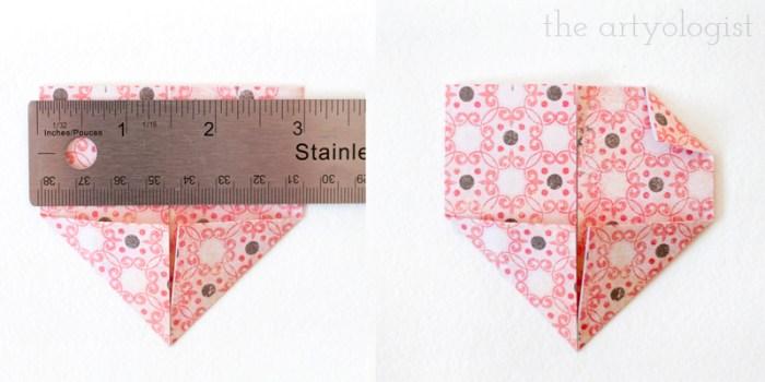 folded heart valentine card step 7