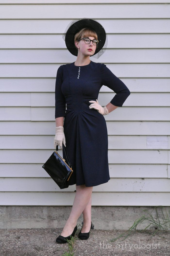 1940's ladylike styled outfit