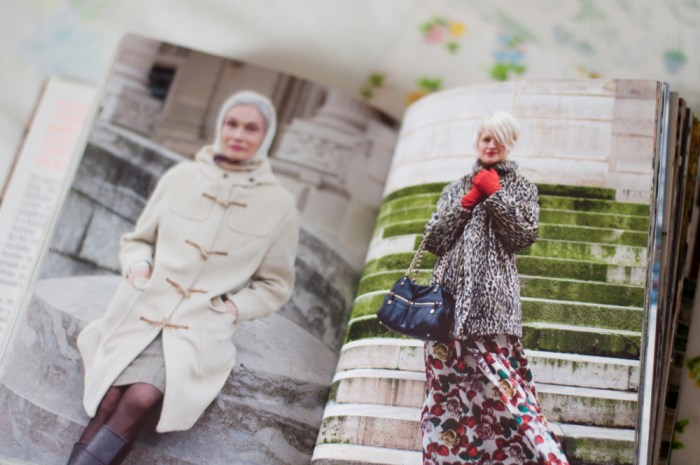 the sartorialist book open to two photos of ladies