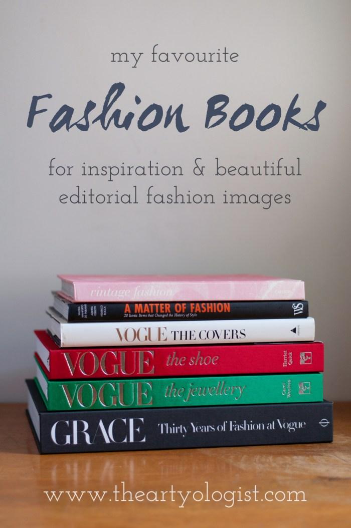 stack of fashion books