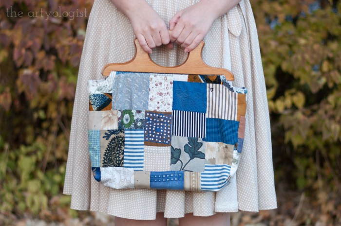 patchwork quilt purse