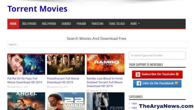 TorrentMovies 2019 - Download Leaked Hindi Full HD 1080p Movies and Dubbed on [TorrentMovies]
