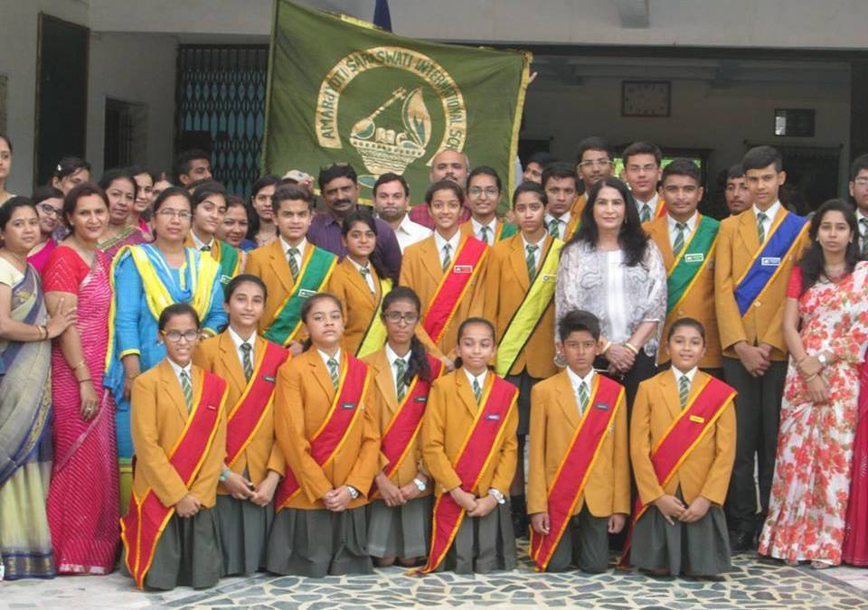 Investiture ceremony Amarjyoti Saraswati International School Amarjyoti Gohil Ankit Akolkar The ASIS Group