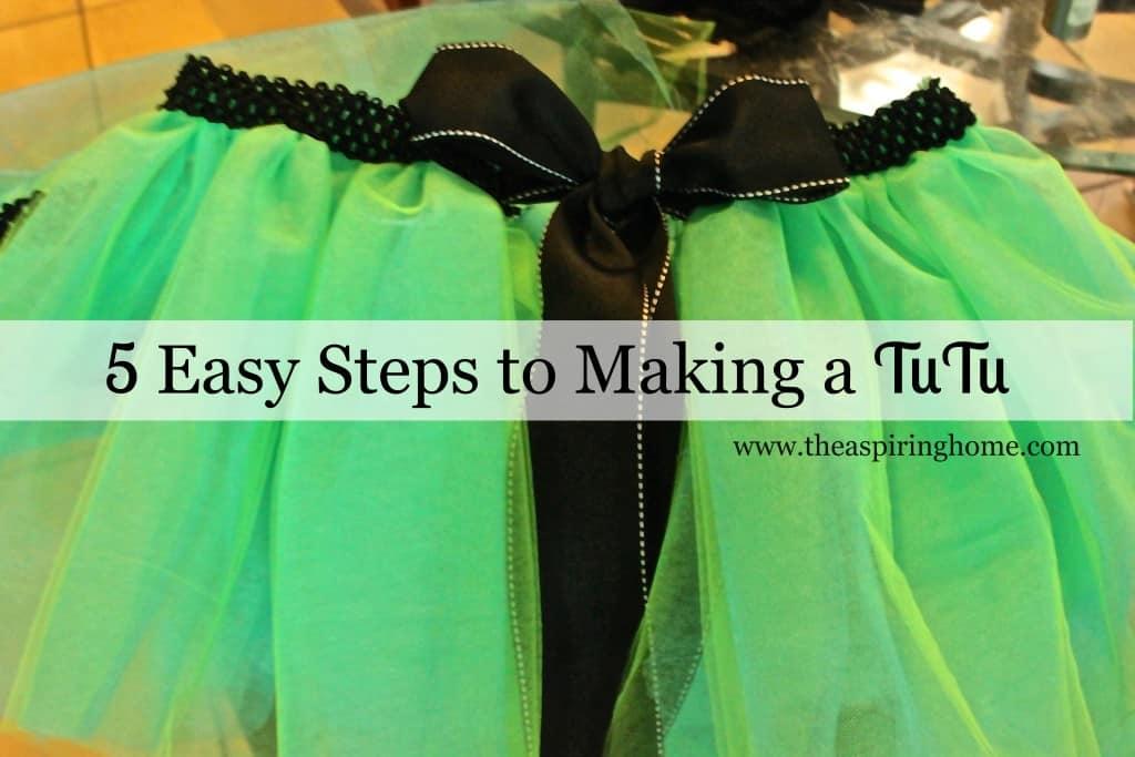 5 easy steps to make a tutu - www.theaspiringhome.com